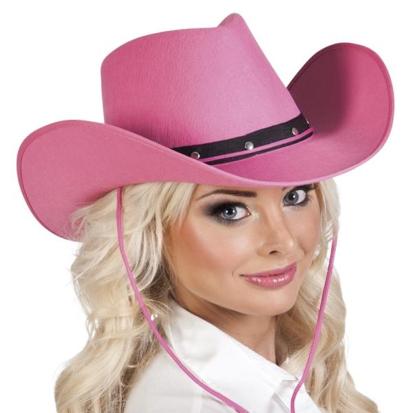 Cowboyhut Texas Belle, pink - Westernparty Zubehör