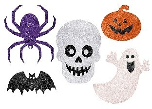 Glitzer Cutouts Froehlicher Halloween Spuk