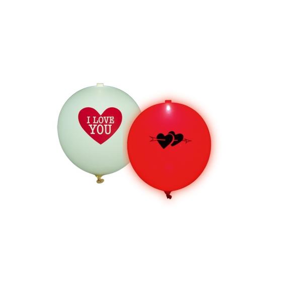 LED Leuchtballons I Love You - Romantische Deko