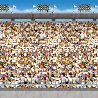 Dekofolie Stadion Tribüne - Fussballparty Deko