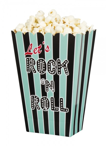 Popcorn Schussel Rock Roll Party 50er Deko Party Extra