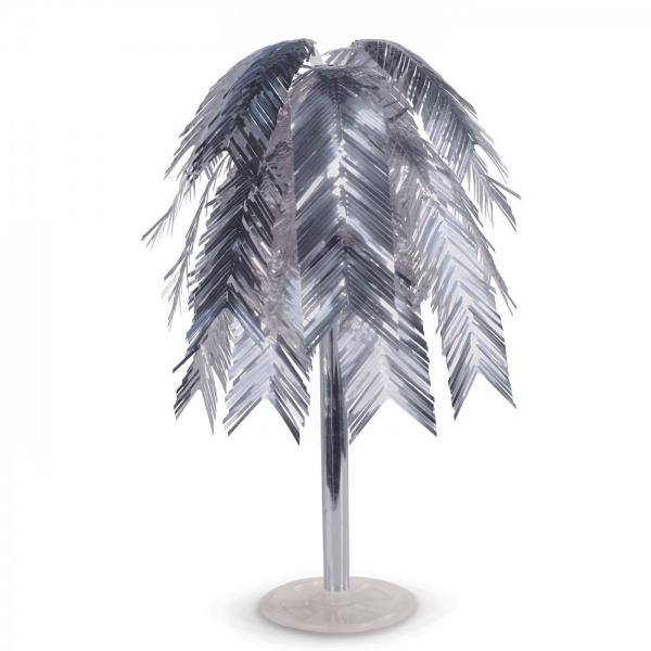 Metallic-Federkaskade, silber - Glamour Deko