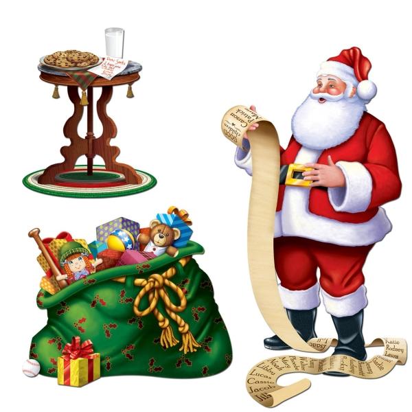 Dekofolien Santas Geschenkesack - Weihnachtsdeko