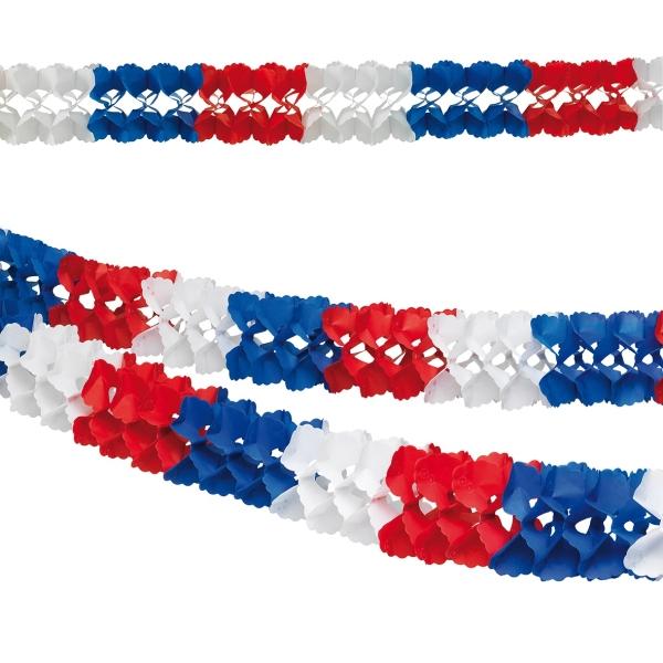 Party-Extra Deko-Girlande rot-weiß-.blau