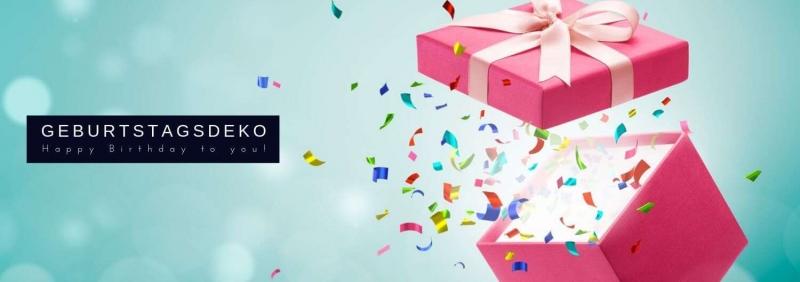 Geburtstagsdeko guenstig kaufen fuer Deine Geburtstagsparty D