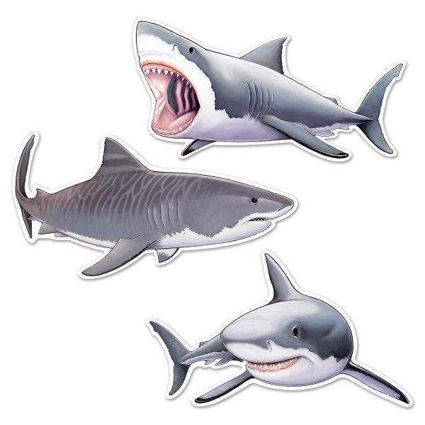 Haifisch-Cutouts - Unterwasserwelt Deko