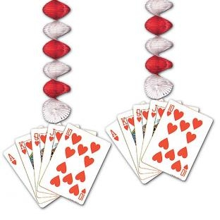 Spiralhänger Royal Flush - Las Vegas Casino Mottoparty Deko