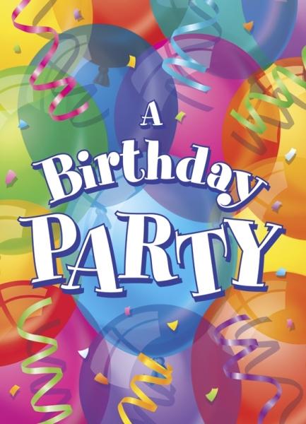 Einladungskarten Bunte Luftballons - Geburtstagsparty Zubehör