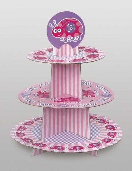 Cupcake-Ständer 1. Geburtstag Kleines Käferchen