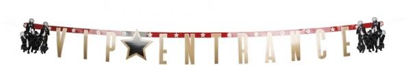Party-Extra Buchstabengirlande VIP Entrance - Hollywood Deko