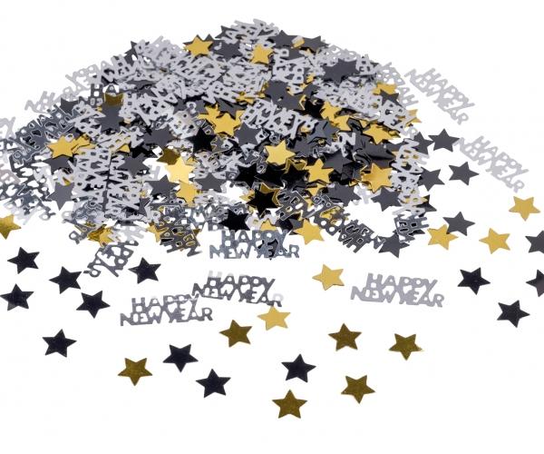 Tischkonfetti Happy New Year Silvester Deko Party Extra