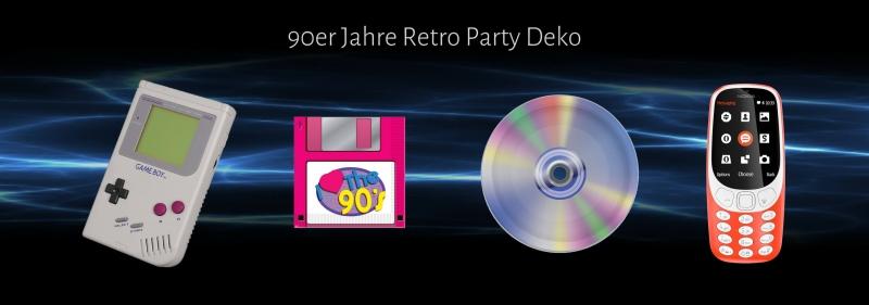 90er Jahre Retro Party Deko - Mottoparty des Internet-Zeitalters