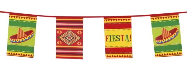XL Wimpelkette Mexikanische Fiesta - Mexikoparty Deko