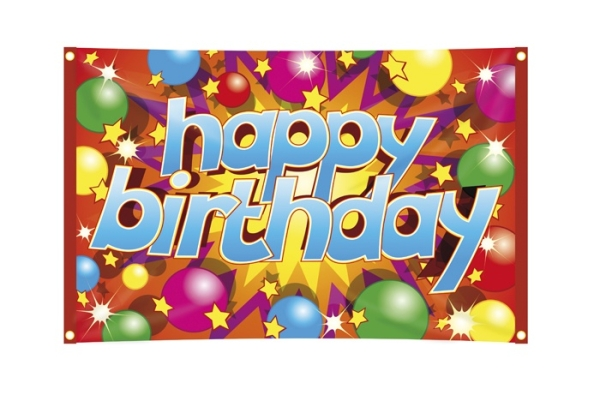 Party-Extra Dekofahne Happy Birthday
