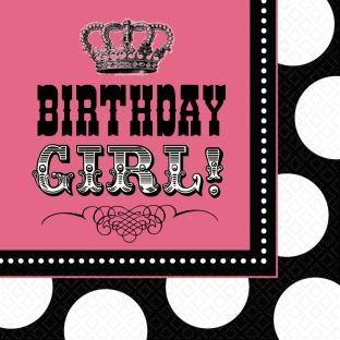 Servietten Birthday-Girl