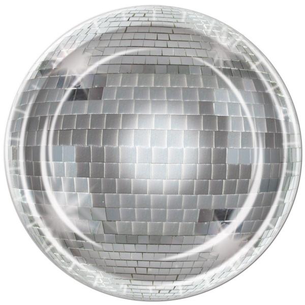 Pappteller Discokugel - Disco Tischdeko