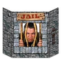 Party-Extra Fotowand-Aufsteller Gefängnis