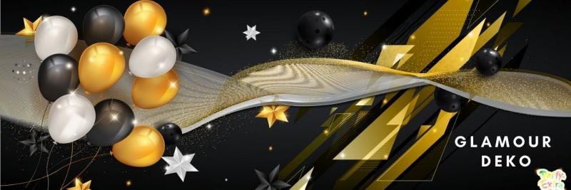 Glamour Deko - glanzvolle Glitzer Deko - festlich feiern