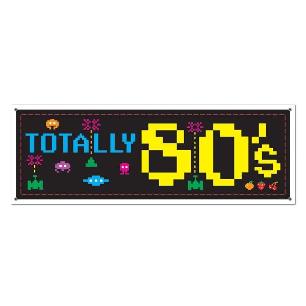 Mega-Partybanner Totally 80's 80er Jahre Deko