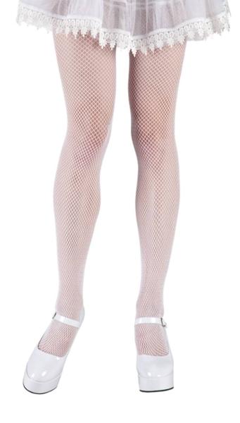 Weiße Netzstrumpfhose