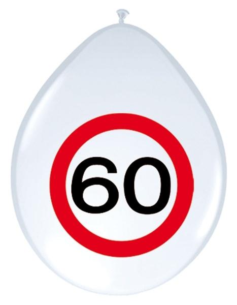 Luftballon Verkehrsschild 60 - Geburtstagsdeko