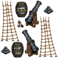 Dekofolie Piraten-Kanonen - Piratenparty Deko