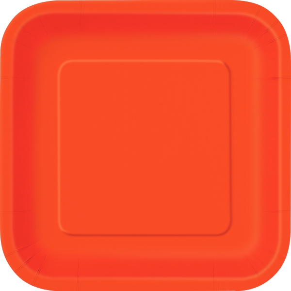 Party-Extra Pappteller orange, 16er Pack
