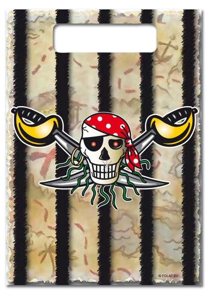 Mitbringseltüten Roter Pirat, 8er Pack