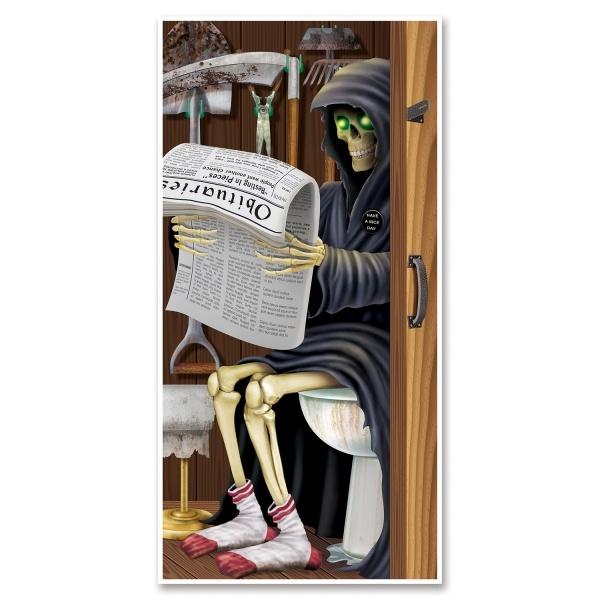 Party-Extra Tür-Dekofolie Grim Reaper