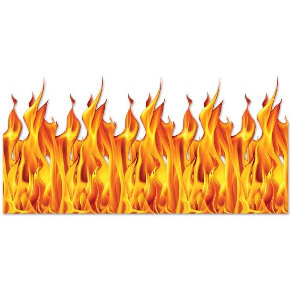 Wand-Dekofolie Flammendes Inferno - Halloween Deko