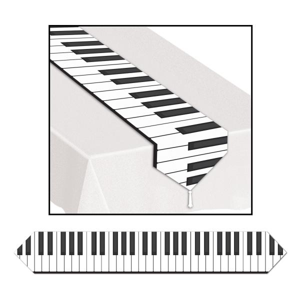 Papp-Tischläufer Klaviertastatur, 180x27cm
