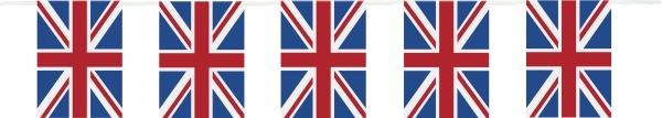 Union Jack Flaggenkette, 3 Meter lang