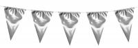 XXL Metallic Wimpelkette Pure Silver, 10 Meter