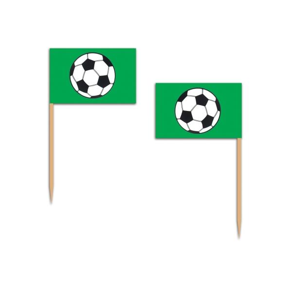 Party-Extra Flaggenpicker Fußballparty - Fußball-Tischdeko