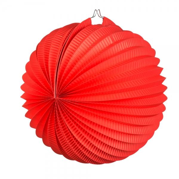 Lampion, rot, 23cm Durchmesser