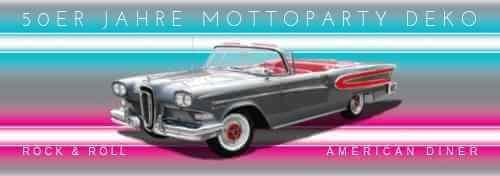 50er Jahre Mottoparty Deko Rock + Roll American Diner Rockabilly Partydeko M