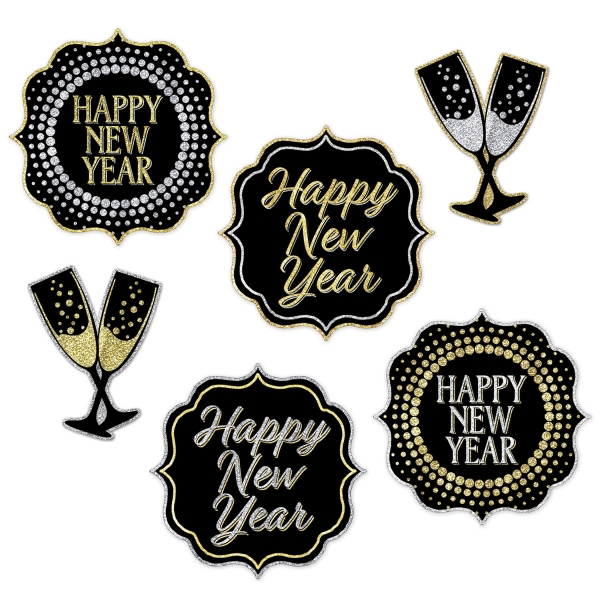 Cutout Set Happy New Year - Silvesterparty Deko