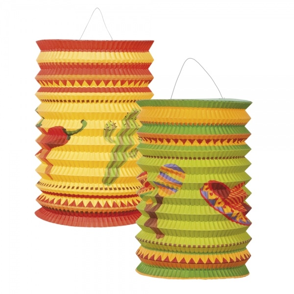 Laternenset Fiesta Mexicana, 2er Pack