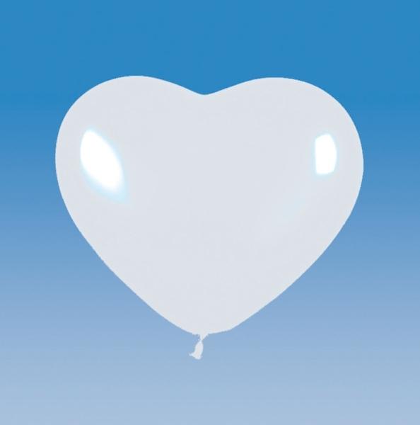 Weiße Herz Luftballons - Romantische Deko
