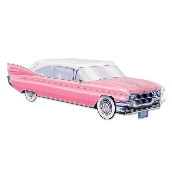 Party-Extra Tischdeko Pink Cadillac - 50er Jahre Rock + Roll Deko
