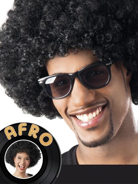 Afro-Perücke Schwarz Jimi
