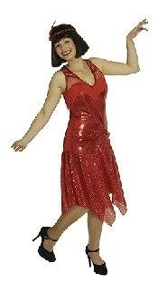 Damenkostüm Goldene Zwanziger, rot