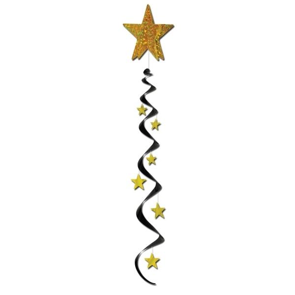 Jumbo Spiralhänger Golden Starlight - Glamour Deko