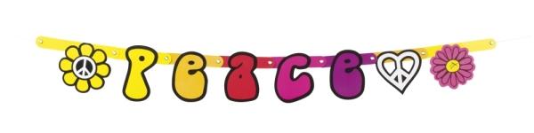 Buchstabengirlande Peace - Hippie Party Deko
