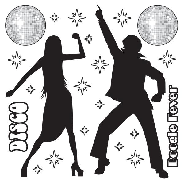 Dekofolie Siebziger Party - Disco Party Deko