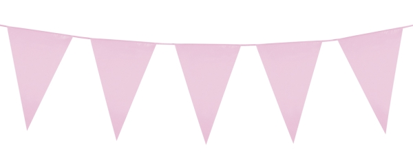 Party-Extra XL-Wimpelkette rosa, 10 Meter