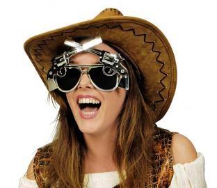 Sonnenbrille Western-Schießeisen