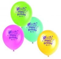 Luftballons Happy Birthday, 8er Pack