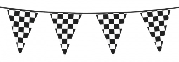 Party-Extra Wimpelkette Autorennen, 6 Meter