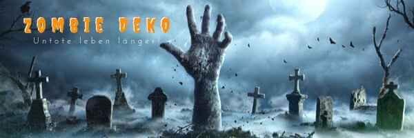 Zombie Deko - Untote leben laenger M